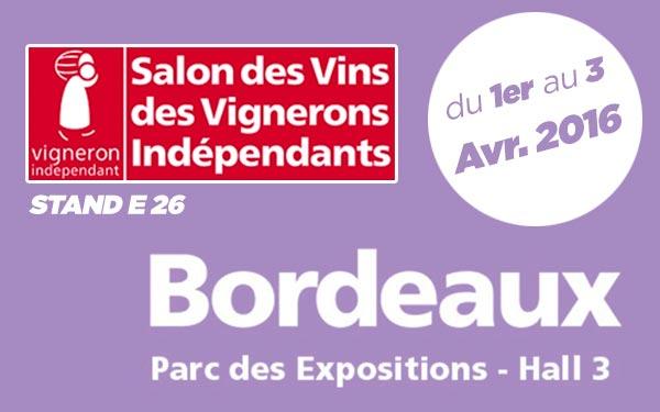 Salon Vignerons Indépendants de BORDEAUX