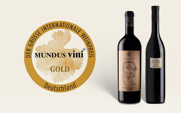 Two Gold Medals at the MUNDUS VINI 2019 Competition