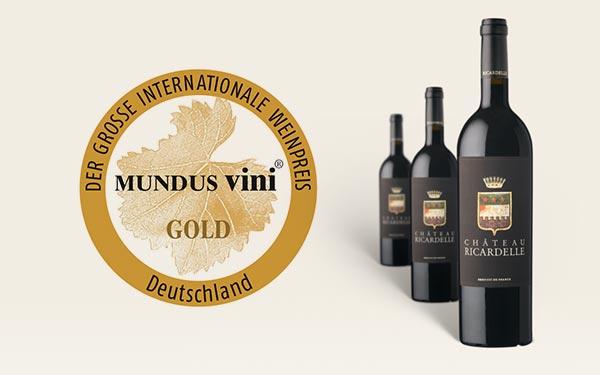 Blason 2013 – Médaille d'Or Concours MUNDUS VINI 2016