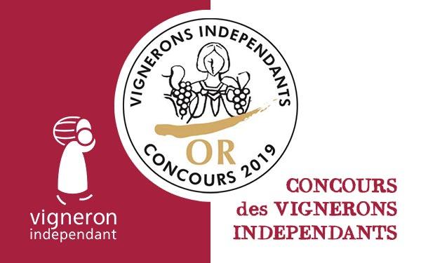 Palmarès en Or au Concours Vignerons Indépendants 2019